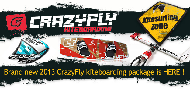 Crazyfly Kitesurf Packages are here sculp kites and allround kiteboard
