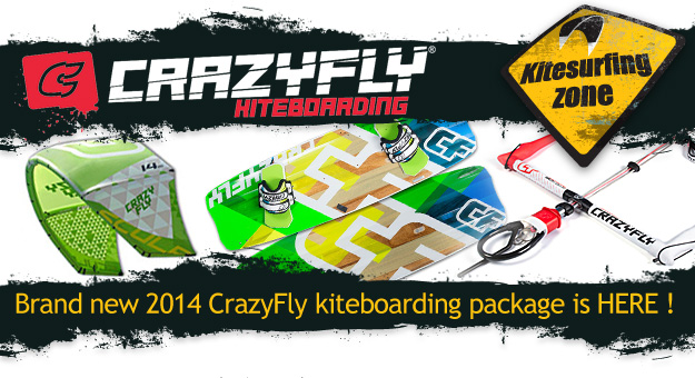 2014 Crazyfly Kitesurf Packages are here sculp kites and shoxbox or bulldozer kiteboard