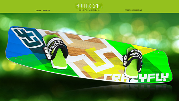 2014 Crazyfly Bulldozer twin tip board