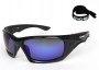 Antigua Black frame Blue polarized lenses