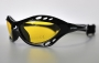 Combuco black frame yellow polarized lenses